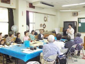 会員の交流会や活動の展示会