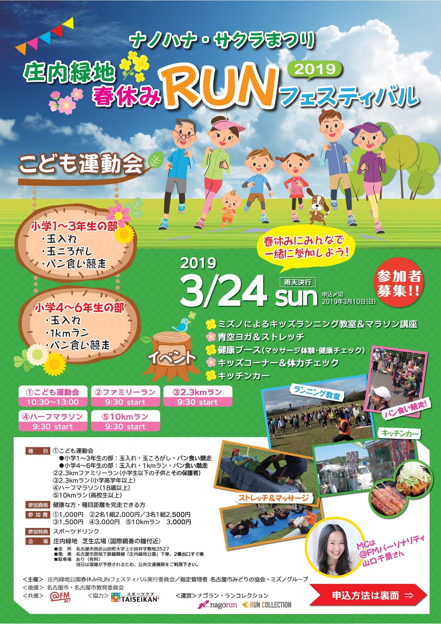 庄内緑地 春休みRUNフェスティバル