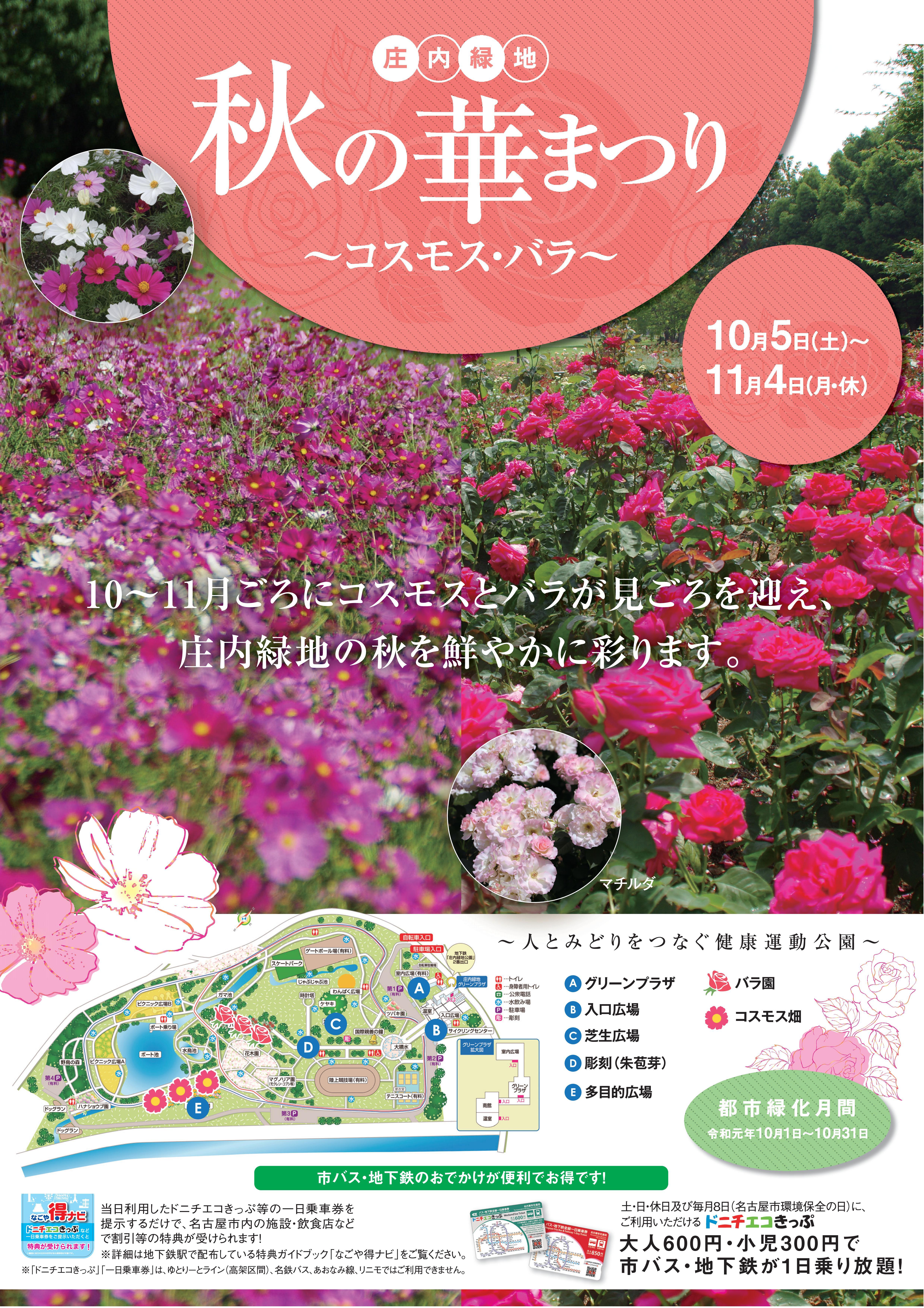 10/5~11/4 庄内緑地「秋の華まつり」