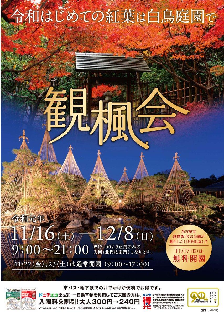 11/16-12/8白鳥庭園・観楓会