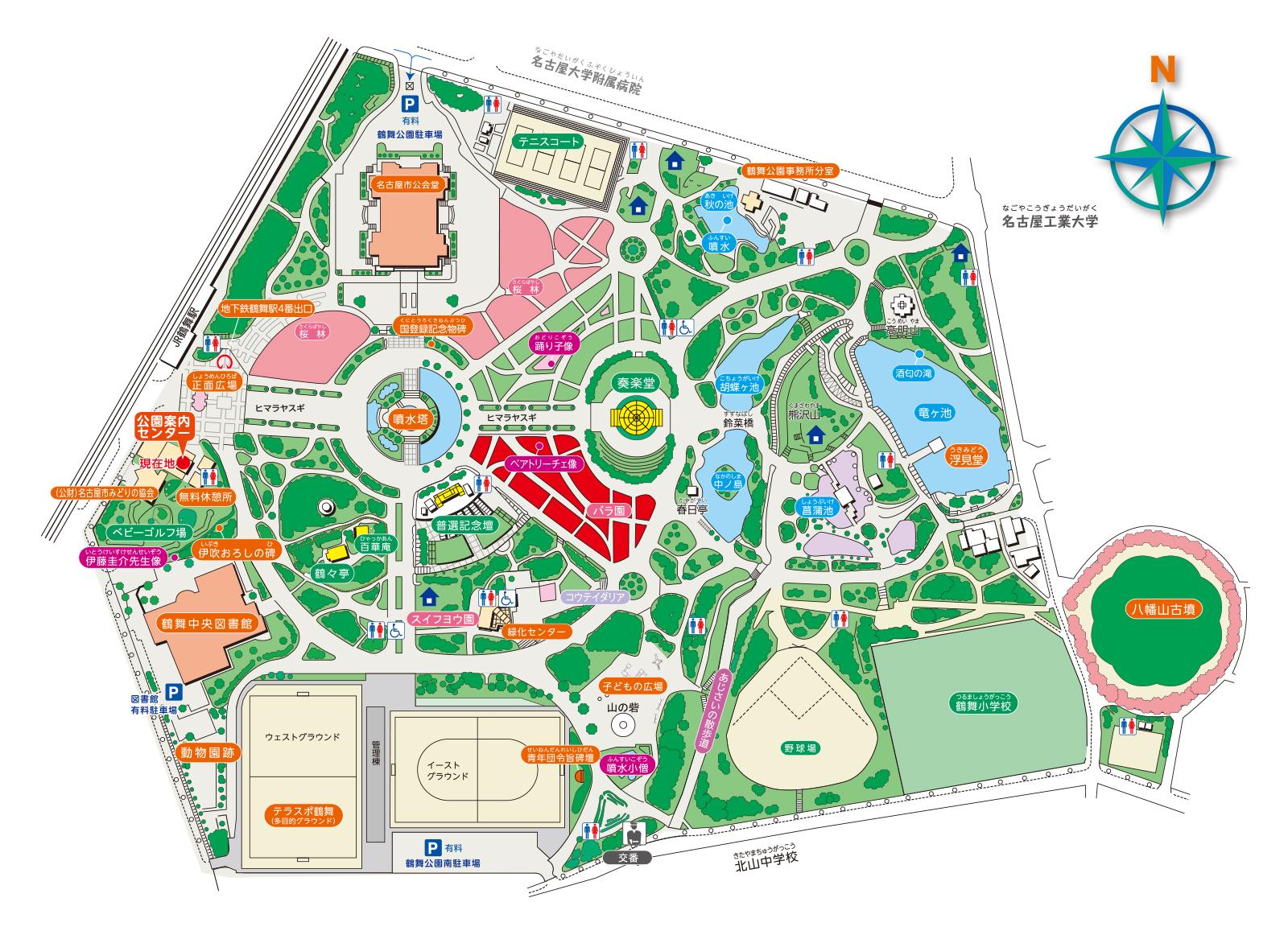 鶴舞公園MAP