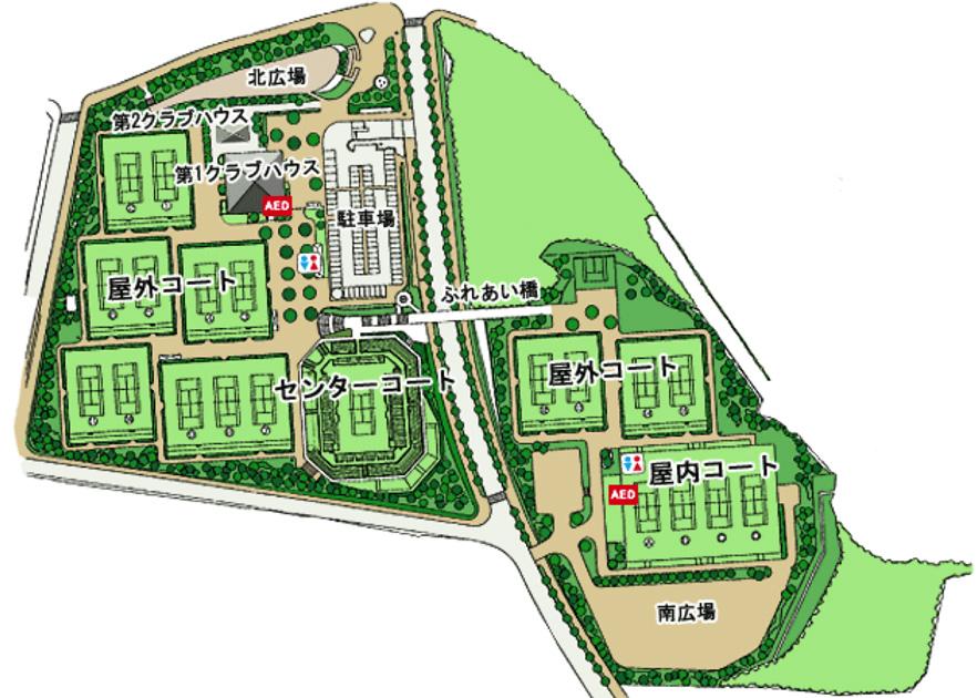 テニスセンター地図